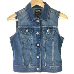 Max Jeans premium denim sleeveless jacket Sz S